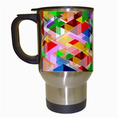 Background Abstract Travel Mugs (white) by Amaryn4rt