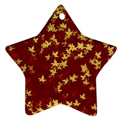 Background Design Leaves Pattern Star Ornament (two Sides)