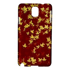 Background Design Leaves Pattern Samsung Galaxy Note 3 N9005 Hardshell Case by Amaryn4rt