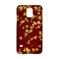 Background Design Leaves Pattern Samsung Galaxy S5 Hardshell Case  by Amaryn4rt