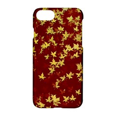 Background Design Leaves Pattern Apple Iphone 7 Hardshell Case by Amaryn4rt