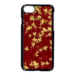 Background Design Leaves Pattern Apple Iphone 7 Seamless Case (black) by Amaryn4rt
