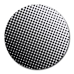 Background Wallpaper Texture Lines Dot Dots Black White Round Mousepads by Amaryn4rt