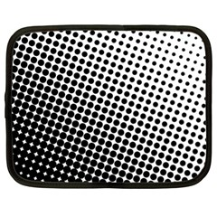 Background Wallpaper Texture Lines Dot Dots Black White Netbook Case (xl)  by Amaryn4rt