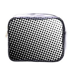 Background Wallpaper Texture Lines Dot Dots Black White Mini Toiletries Bags by Amaryn4rt