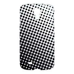 Background Wallpaper Texture Lines Dot Dots Black White Samsung Galaxy S4 I9500/i9505 Hardshell Case by Amaryn4rt