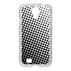 Background Wallpaper Texture Lines Dot Dots Black White Samsung Galaxy S4 I9500/ I9505 Case (white) by Amaryn4rt