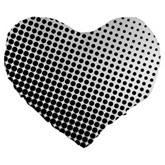 Background Wallpaper Texture Lines Dot Dots Black White Large 19  Premium Flano Heart Shape Cushions