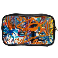 Background Graffiti Grunge Toiletries Bags by Amaryn4rt