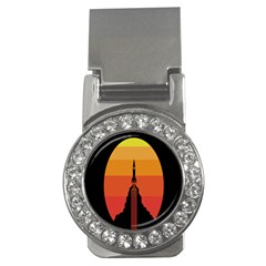 Plane Rocket Fly Yellow Orange Space Galaxy Money Clips (cz)