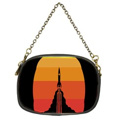 Plane Rocket Fly Yellow Orange Space Galaxy Chain Purses (one Side)