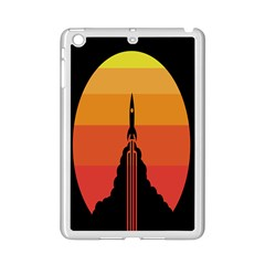 Plane Rocket Fly Yellow Orange Space Galaxy Ipad Mini 2 Enamel Coated Cases