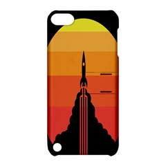 Plane Rocket Fly Yellow Orange Space Galaxy Apple Ipod Touch 5 Hardshell Case With Stand by Alisyart