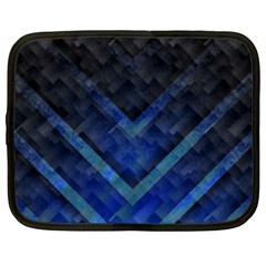 Blue Background Wallpaper Motif Design Netbook Case (large) by Amaryn4rt