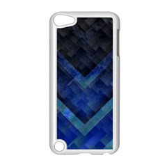 Blue Background Wallpaper Motif Design Apple Ipod Touch 5 Case (white)