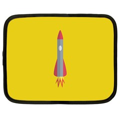 Plane Rocket Space Yellow Netbook Case (large) by Alisyart
