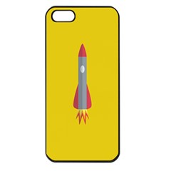 Plane Rocket Space Yellow Apple Iphone 5 Seamless Case (black)