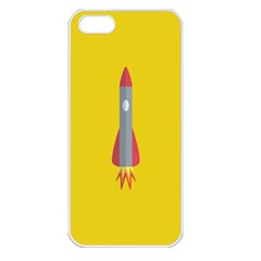 Plane Rocket Space Yellow Apple Iphone 5 Seamless Case (white) by Alisyart