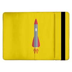 Plane Rocket Space Yellow Samsung Galaxy Tab Pro 12 2  Flip Case