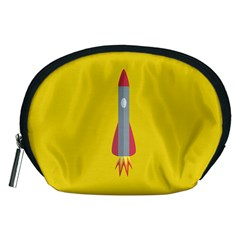 Plane Rocket Space Yellow Accessory Pouches (medium)