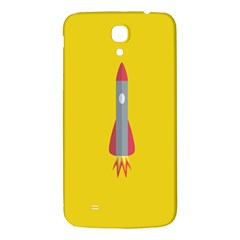 Plane Rocket Space Yellow Samsung Galaxy Mega I9200 Hardshell Back Case