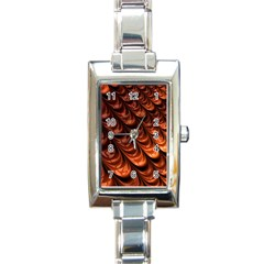Brown Fractal Mathematics Frax Rectangle Italian Charm Watch by Amaryn4rt