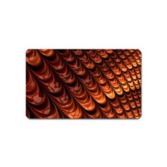 Brown Fractal Mathematics Frax Magnet (name Card) by Amaryn4rt