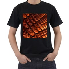 Brown Fractal Mathematics Frax Men s T Shirt (black) (two Sided) by Amaryn4rt