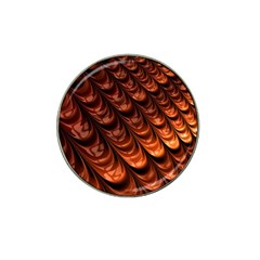 Brown Fractal Mathematics Frax Hat Clip Ball Marker (4 Pack) by Amaryn4rt