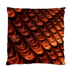 Brown Fractal Mathematics Frax Standard Cushion Case (two Sides) by Amaryn4rt