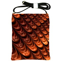 Brown Fractal Mathematics Frax Shoulder Sling Bags by Amaryn4rt