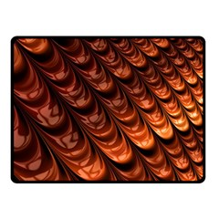 Brown Fractal Mathematics Frax Fleece Blanket (small) by Amaryn4rt