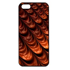 Brown Fractal Mathematics Frax Apple Iphone 5 Seamless Case (black) by Amaryn4rt