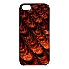 Brown Fractal Mathematics Frax Apple Iphone 5c Hardshell Case by Amaryn4rt