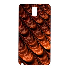 Brown Fractal Mathematics Frax Samsung Galaxy Note 3 N9005 Hardshell Back Case by Amaryn4rt