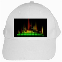 Plaid Light Neon Green White Cap