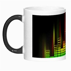 Plaid Light Neon Green Morph Mugs