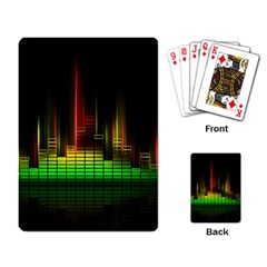 Plaid Light Neon Green Playing Card