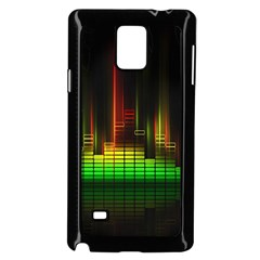 Plaid Light Neon Green Samsung Galaxy Note 4 Case (black)