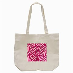 Zebra Skin Pink Tote Bag (cream)