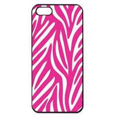 Zebra Skin Pink Apple Iphone 5 Seamless Case (black)
