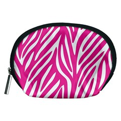Zebra Skin Pink Accessory Pouches (medium)