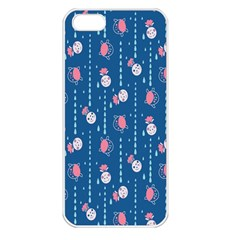 Pig Pork Blue Water Rain Pink King Princes Quin Apple Iphone 5 Seamless Case (white) by Alisyart