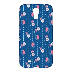 Pig Pork Blue Water Rain Pink King Princes Quin Samsung Galaxy S4 I9500/i9505 Hardshell Case