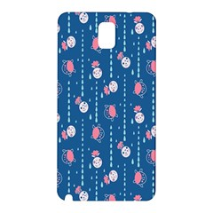 Pig Pork Blue Water Rain Pink King Princes Quin Samsung Galaxy Note 3 N9005 Hardshell Back Case