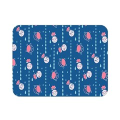 Pig Pork Blue Water Rain Pink King Princes Quin Double Sided Flano Blanket (mini)  by Alisyart