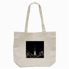 Plane Rocket Grey Tote Bag (cream)