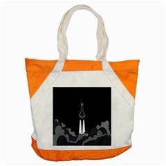 Plane Rocket Grey Accent Tote Bag