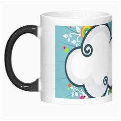 Rainbow Clouds Tree Circle Orange Morph Mugs by Alisyart
