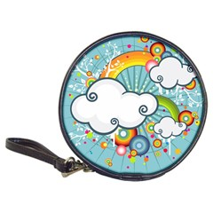 Rainbow Clouds Tree Circle Orange Classic 20 Cd Wallets